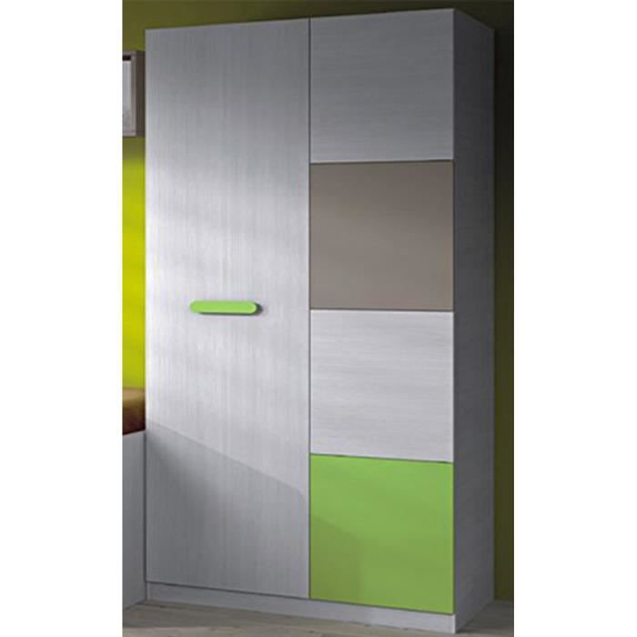 armoire lydie pour enfants avec 2 portes color achat. Black Bedroom Furniture Sets. Home Design Ideas