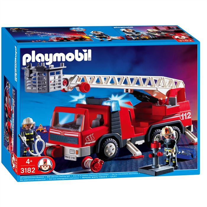 caserne de pompiers playmobil. Black Bedroom Furniture Sets. Home Design Ideas