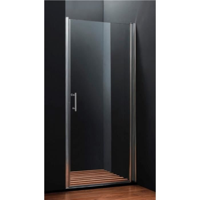 porte de douche pivotante 80 cm achat vente cabine de. Black Bedroom Furniture Sets. Home Design Ideas