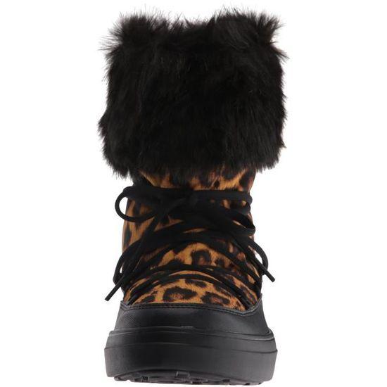 pour CGK5H neige en Botte Taille lodge 37 Crocs de dentelle femme à xthQrCsd