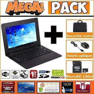 LIVRE INTERACTIF ENFANT MEGA Pack- Netbook éducatif Noir 10 pouces 4Go And