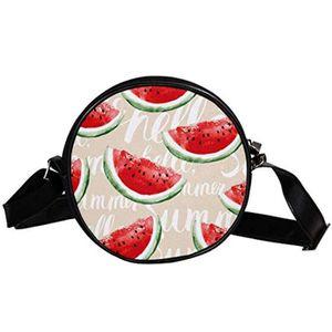 SAC À MAIN Cartable PFFTW Melon d'eau ronde Sacs à bandoulièr