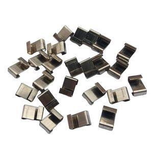 Zelsius Serre en acier inoxydable pinces et pinces pinces pour serre en verre 100/pi/èces fixation de plaques jusqu/à 6/mm