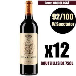 VIN ROUGE X12 Château Gruaud Larose 2015 Rouge 75 cl AOC Sai