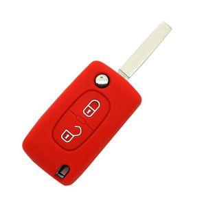 Shell de cl/é de voiture plastique ABS et m/étal 2 boutons Shell de cl/é de voiture Aucune programmation ne n/écessite de cl/é Shell