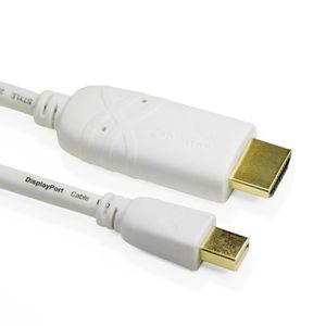 Yeung Qee 4/K Mini DisplayPort vers HDMI c/âble 1.8/m MacBook /écran Blanc Thunderbolt vers HDMI m/âle vers m/âle pour Surface Pro//Ordinateur Portable//Book Vid/éoprojecteur