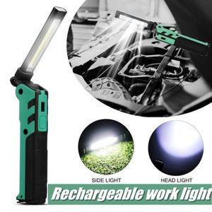 LAMPE DE POCHE ESEN107 LED+COB Lampe D'entretien De Voiture Lampe