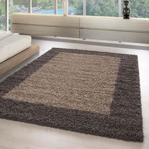 TAPIS Moderne tapis design shaggy tapis ZEUGMA longs poi