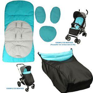 ORGANISEUR DE SIÈGE Kit Confort Poussette - Coloris Turquoise