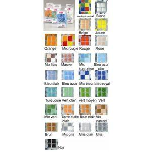 Tesselle Mosaïque en verre, carrée, 1 cm, 200 g, env. 300 p