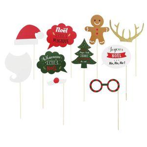 Le Noël Elf à thème Selfie cadre et accessoires de fête de Noël Amusant