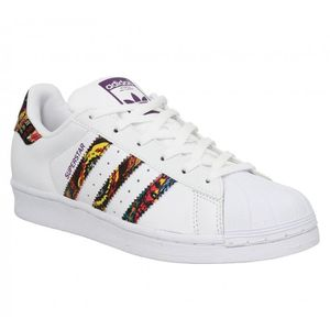 BASKET Baskets ADIDAS Superstar-40 2/3-Blanc Pourpre