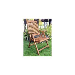 FAUTEUIL fauteuil en teck inclinable - fauteuil de jardin g
