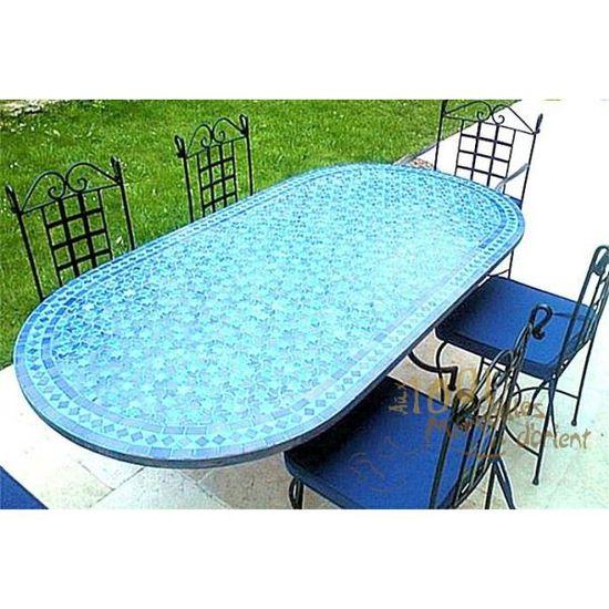 Table Marocaine Ovale 120 x 90 cm en Fer Forgé … - Achat ...