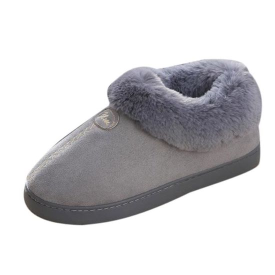 Reservece  Couple Maison non-Slip Chaussures d'hiver Wedge plate-forme d'hiver Chaussures Bottes de neige chaude Chaussures d'hiver Gris Gris Gris - Achat / Vente botte e37082