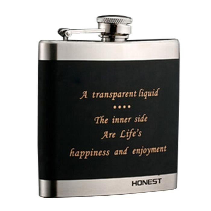 6oz Hip Flask-cuir boissons Bouteille Eau alcool Voyage contenants en métal