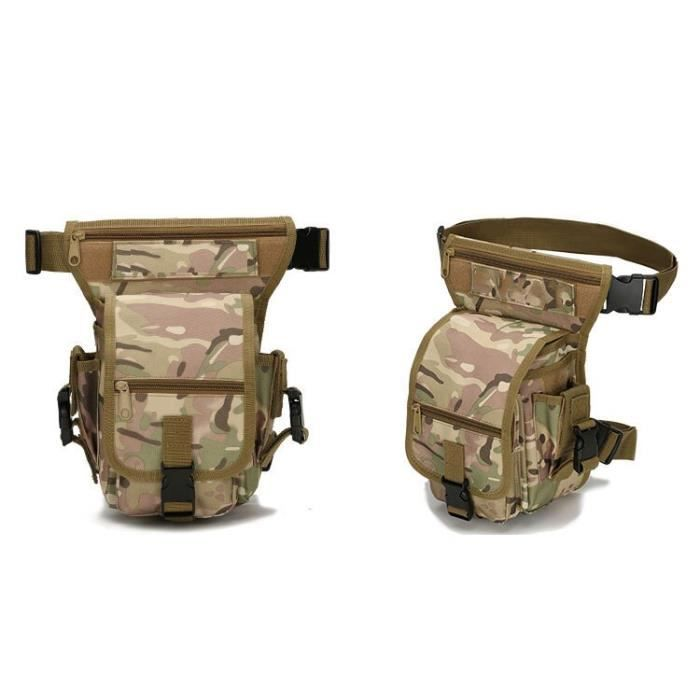 CP camouflage -Sac banane tactique militaire pour hommes, sacoche de cuisse pour outil, sac de taille pour chasse, moto, équitation,