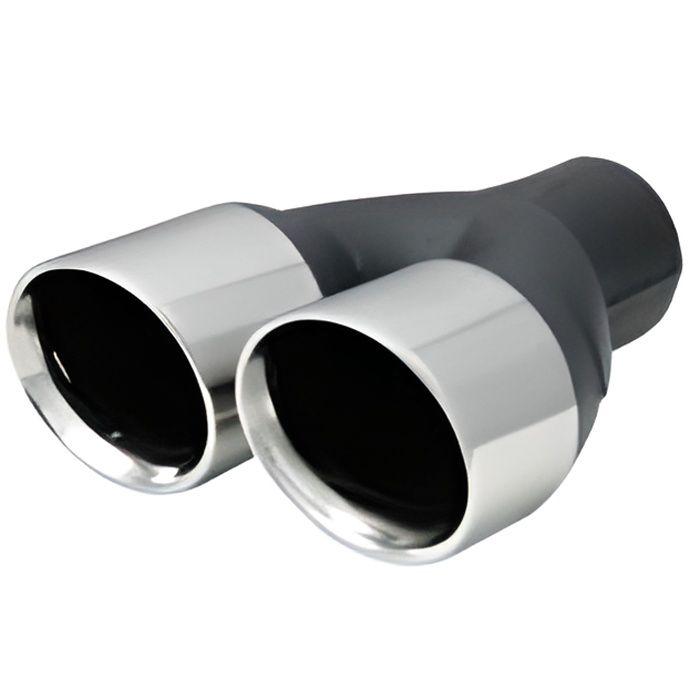 Embout echappement en inox double rond pour sortie 45-60 mm