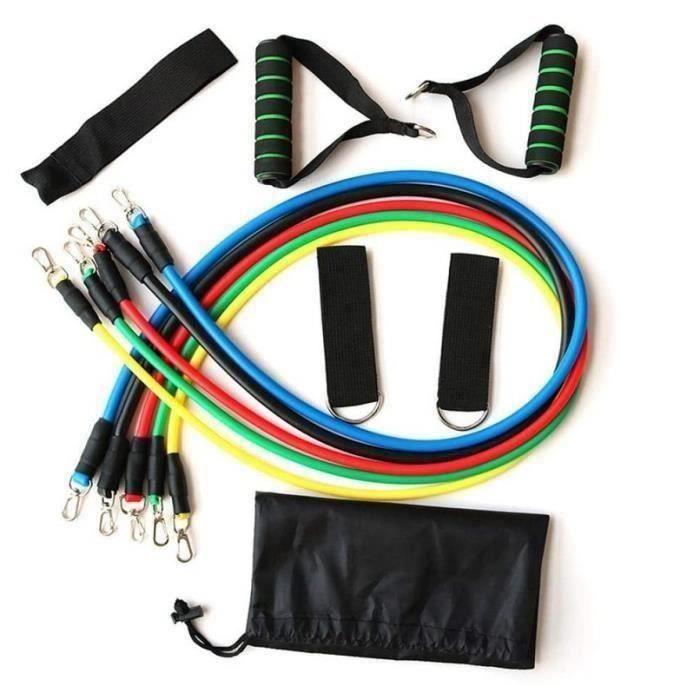 11 Pcs Bandes De Résistance Set, Fitness Elastiques Kit pour Musculation