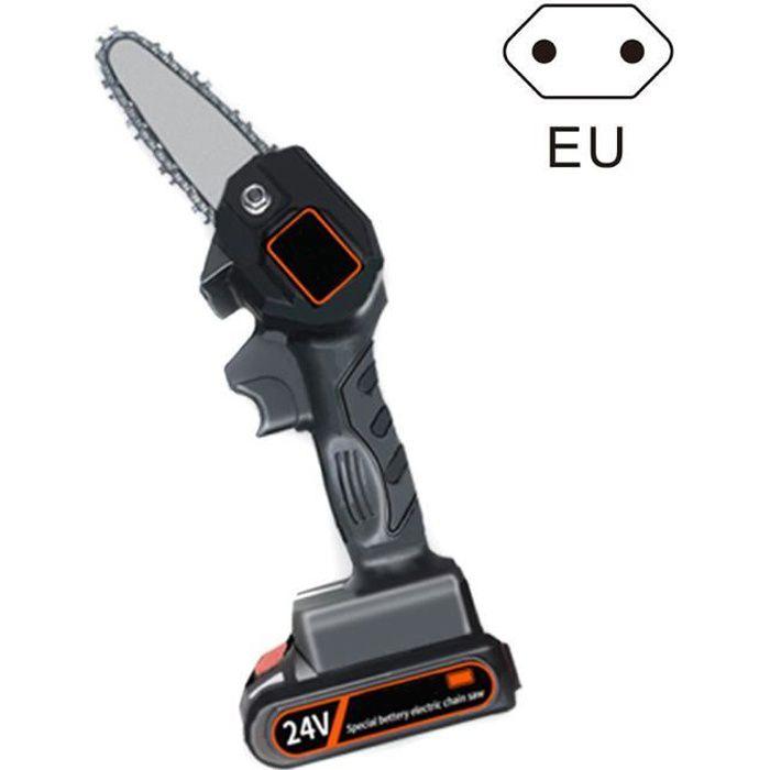 Mini tronçonneuse d'élagage rechargeable, scie d'élagage électrique 4 pouces sans fil pour coupe de bois de branche d'arbre