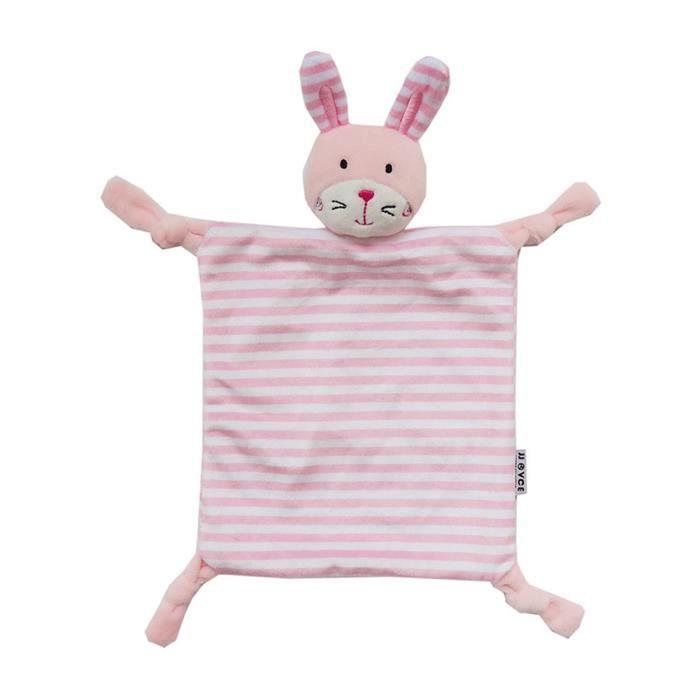 Lapin rose Bébé Confort Blanket sécurité Blanket- Noué en peluche sécurité Stuffed Animal doudou pour les filles