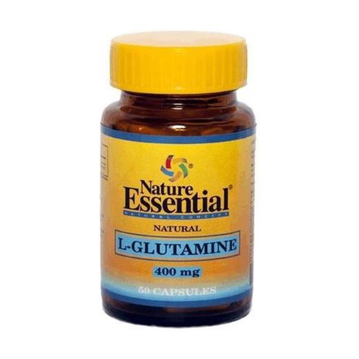 Nature Essential+L-glutamine 50 capsules de 400mg