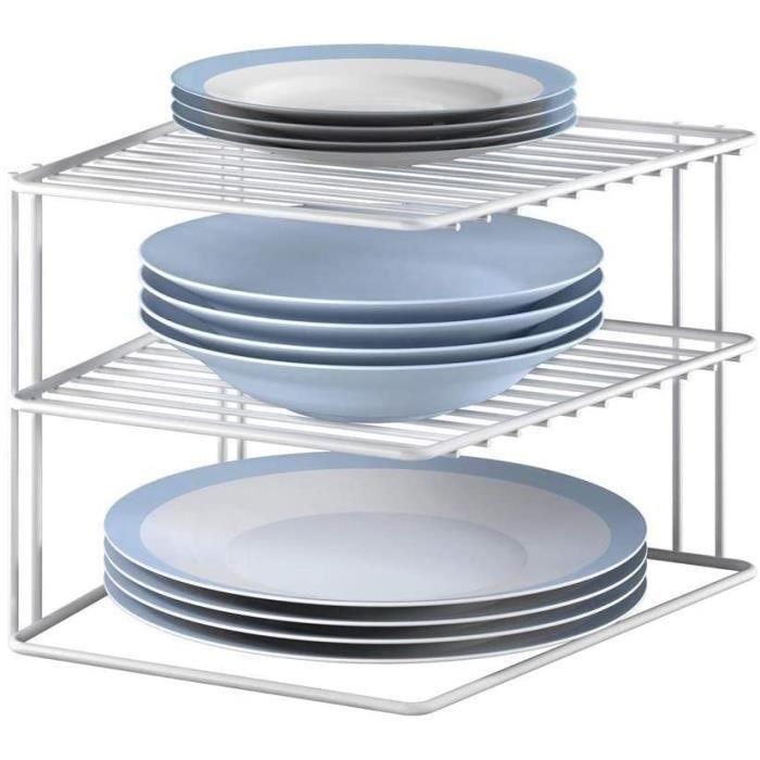 Metaltex Silos 364202 étagère d'angle porte-assiettes Blanc 25 x 25 x 19 cm
