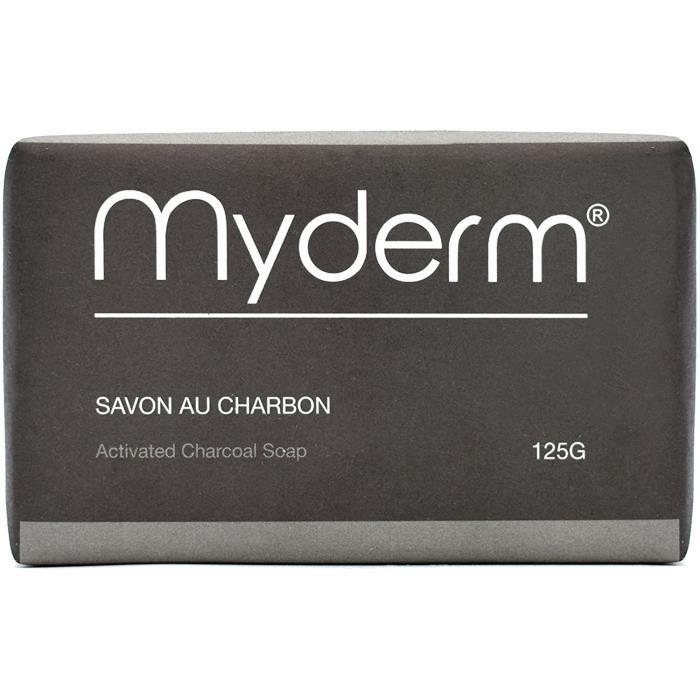 Savon au charbon activée 125 g - Activated Charcoal Soap 125g - Savon 125 g au Charbon Végétal Actif - MYDERM 4154
