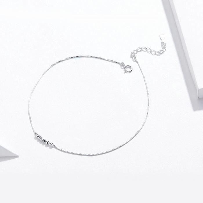 Bracelet Gourmette 22 cm orné de SWAROVSKI ELEMENTS Argent Sterling S925 pour les Femmes Fille Bijoux Cadeau SCT007