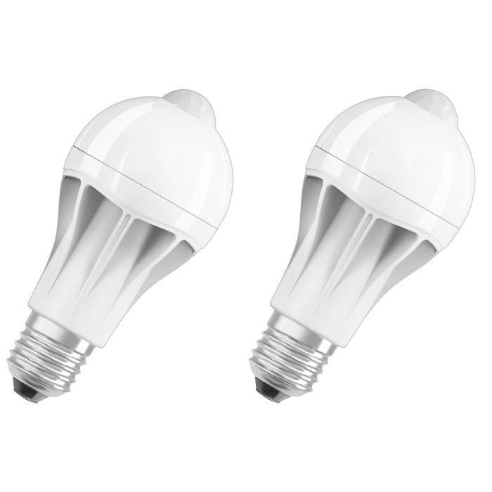 OSRAM Lot de 2 Ampoules LED Star + Motion Sensor E27 standard 11,5 W équivalent à 75 W blanc chaud