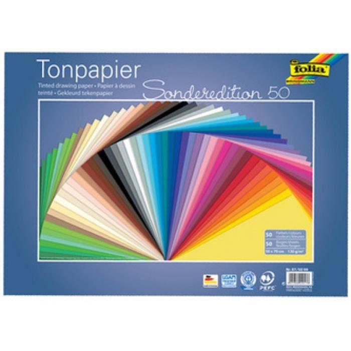 FOLIA Papeterie - Fournitures folia Papier de couleur, (L)250 x (H)350 mm, 130g-m2 225180