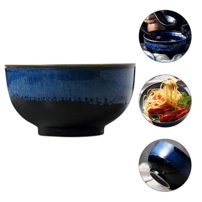 2 Pièces en Céramique Bolles Belle Amendere Creative Riz Bols en Porcelaine Ramen Bol Style Japonais assiette service de table