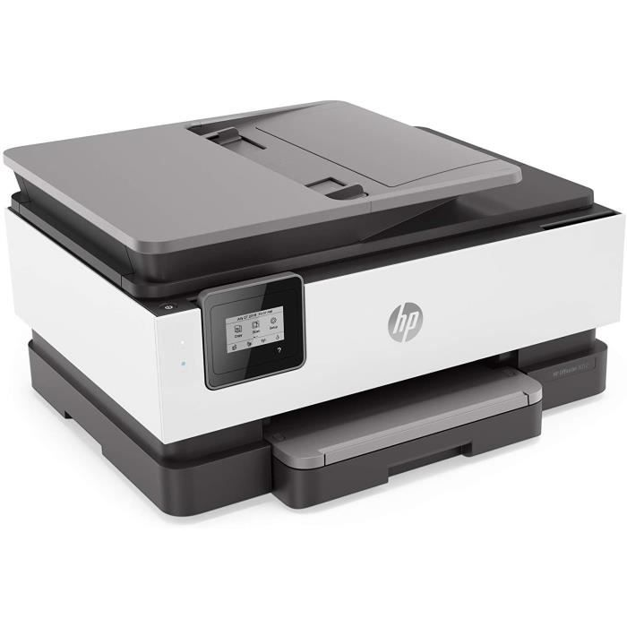 HP Imprimante Jet d'Encre Multifonction Officejet Pro 8012 - Couleur - Copieur/HP Imprimante/Scanner - Impression N&B 18 ppm/Couleur