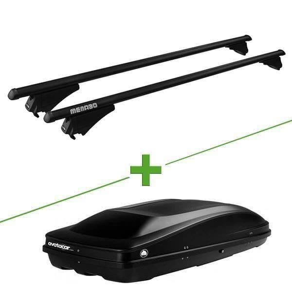 Pack barres et coffre de toit MBO Tiger black XL + Wabb L pour Land rover Range Rover Evoque 3 portes - 3665597896183