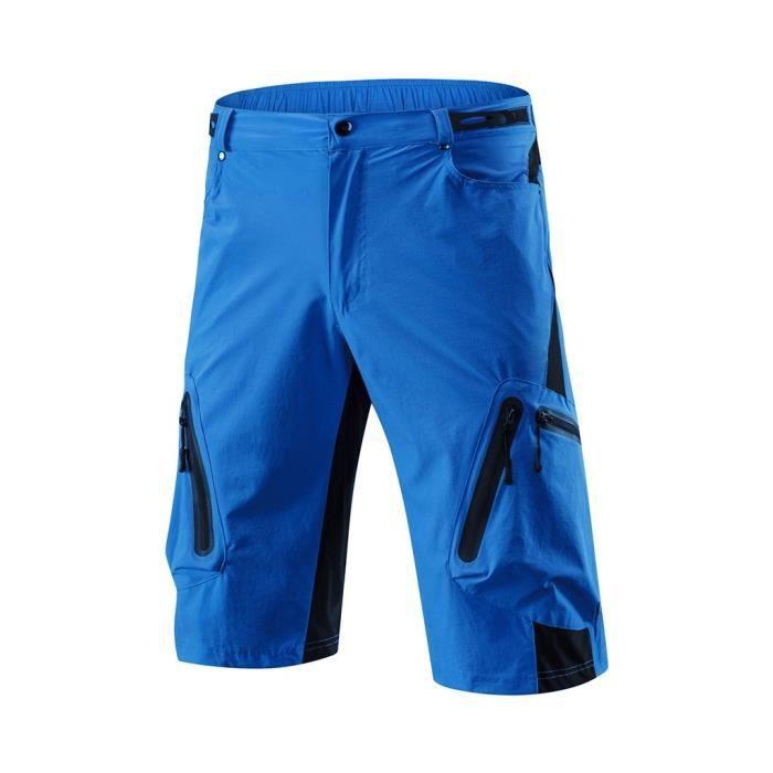 Hommes Cyclisme En Plein Air Vtt Shorts Pantalons D'Été Quick Séchage Breatha Pantalon Bleu