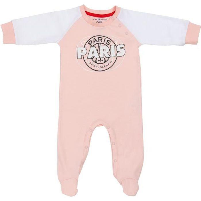 Grenouillère pyjama bébé fille PSG - Collection officielle PARIS SAINT GERMAIN