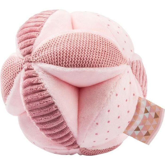 NATTOU Balle d'activités - 100% polyester - Rose