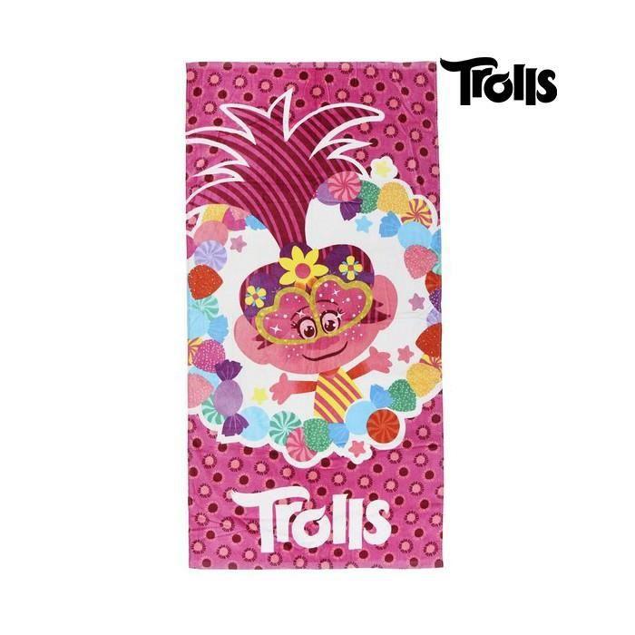Serviettes de plage et de piscine moderne serviette de plage trolls 75496 coton rose