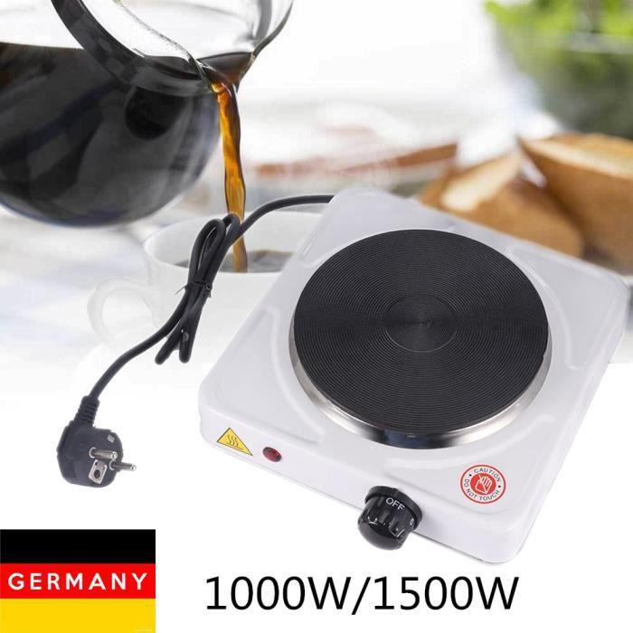 Plaque chauffante électrique multifonctionnelle blanche à plaque unique 1000W chauffante à brûleur simple / double