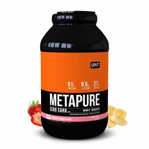 Metapure Whey Protein Isolate Fraise Banane 2 kg