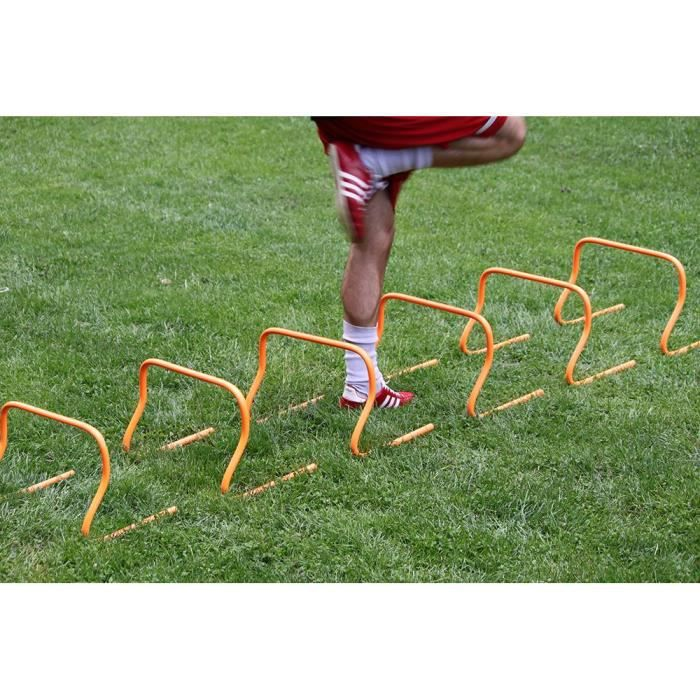 6 pièces Haies de Coordination Football Running Athletisme Exercices Agilité d'entraînement Vitesse équipement en hauteur de 23cm