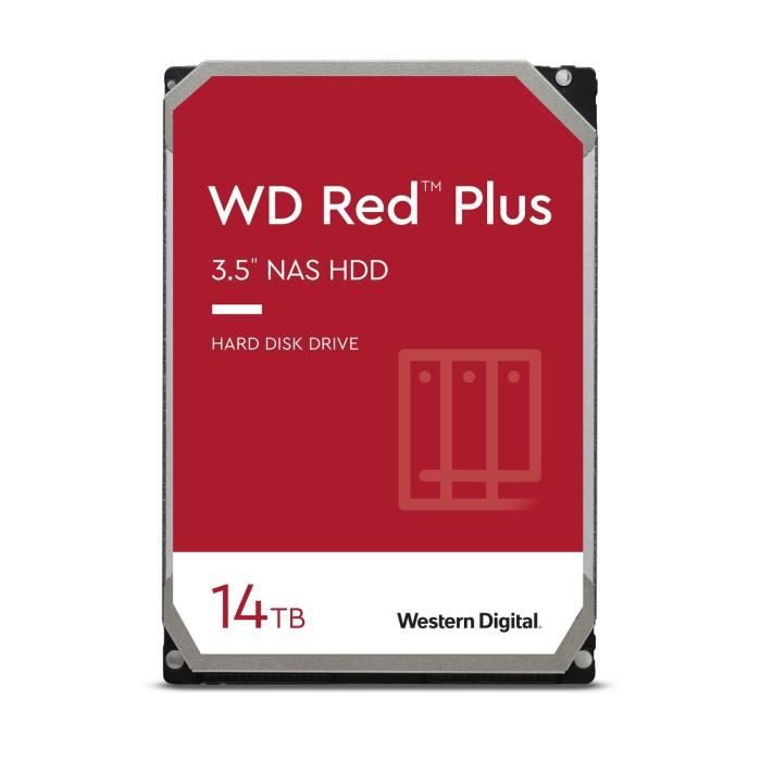 WD Red™ Plus - Disque dur Interne NAS - 14To - 7200 tr/min - 3.5- (WD140EFGX)