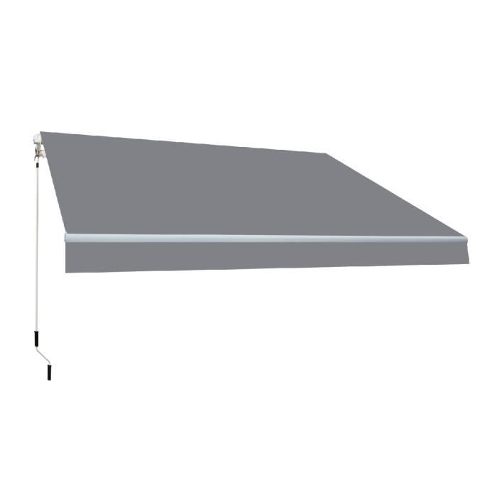 Store banne manuel 4x2,5m Smartsun toile acrylique de couleur grise
