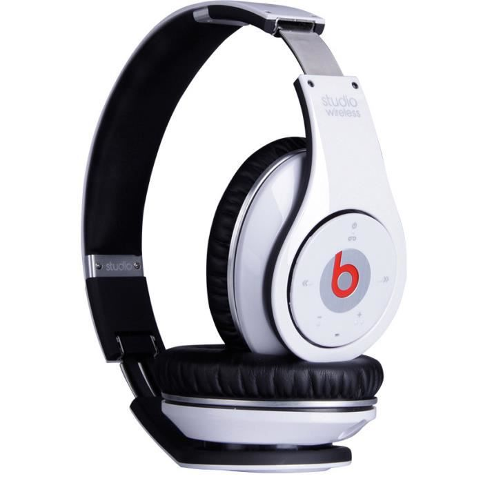 blanc casque headphones beats studio sans fil bluetooth st r o casque couteur audio avis. Black Bedroom Furniture Sets. Home Design Ideas