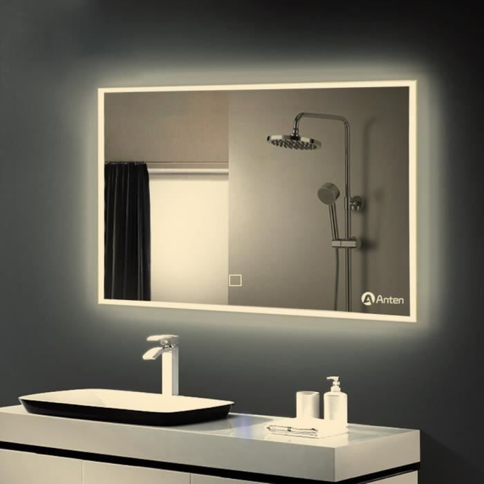 gogo go 100 60cm miroir led orthogone 25w lumi re blanc. Black Bedroom Furniture Sets. Home Design Ideas