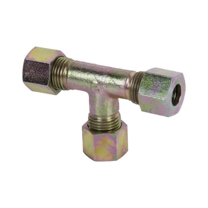 Raccord de tuyau 8 mm m12x1,5 Noir