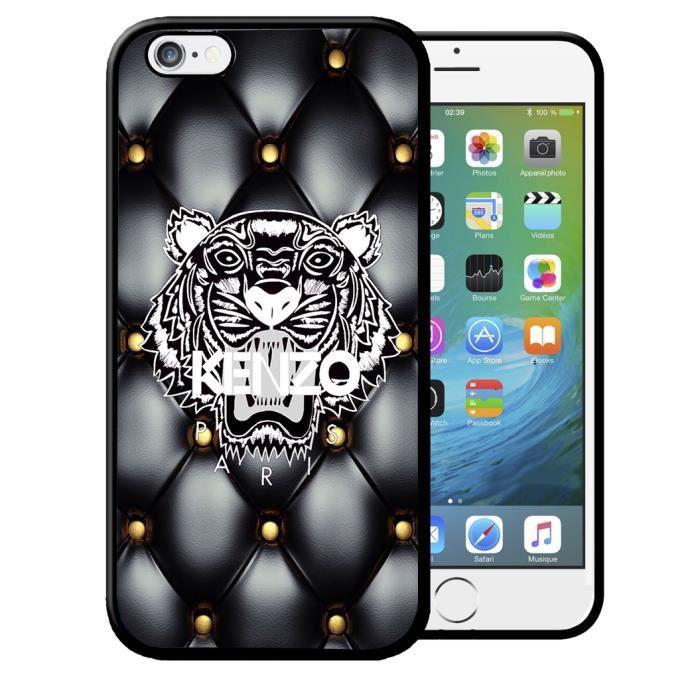 Coque iPhone 7/8 Kenzo Tigre Etui Housse Bumper Apple IPhone 7/8 Coque Noir