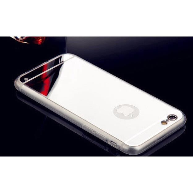 Coque iphone 5s silicone coloris argent tpu swag miroir for Application miroir iphone