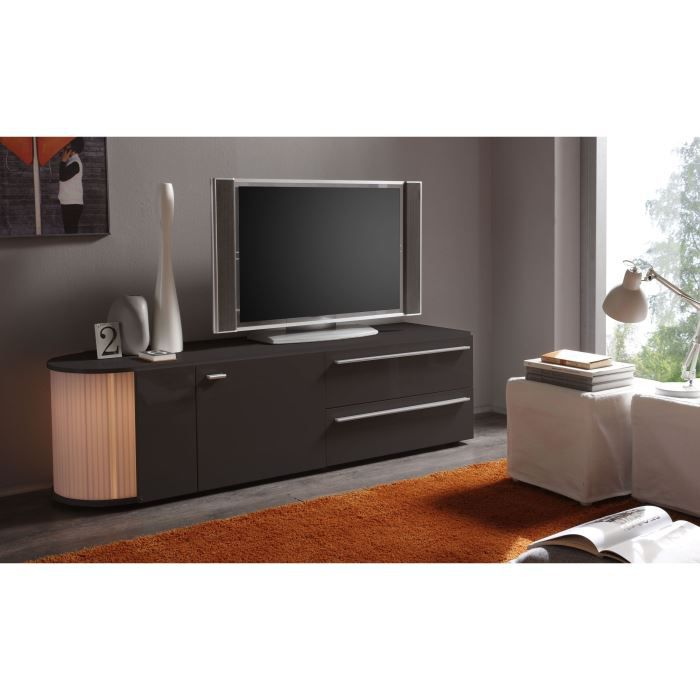 meuble tv doto g2 laqu gris achat vente meuble tv meuble tv doto g2 laqu gri cdiscount. Black Bedroom Furniture Sets. Home Design Ideas