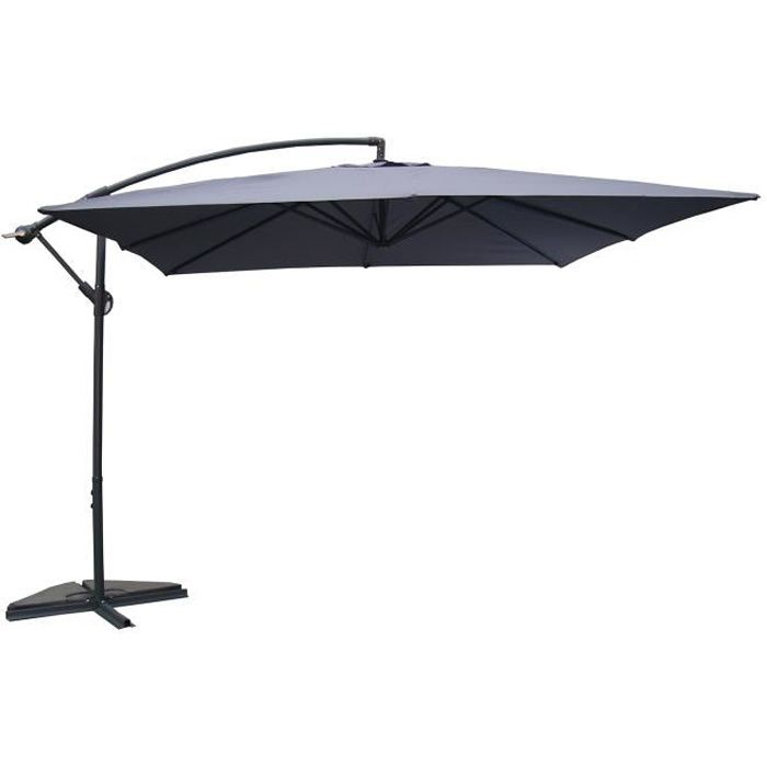 parasol d port 3x3m solenzara gris achat vente. Black Bedroom Furniture Sets. Home Design Ideas